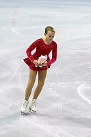 KELOWNA, BC - OCTOBER 26: Kelowna figure skating club member clears the ice during ice dance free dance of Skate Canada International held at Prospera Place on October 26, 2019 in Kelowna, Canada. (Photo by Marissa Baecker/Shoot the Breeze)