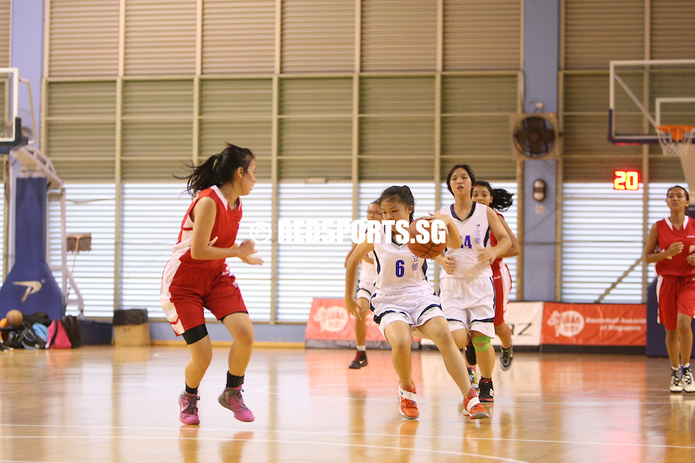 Singapore Basketball Centre, Wednesday, February 20, 2013 – North Vista Secondary dominated Riverside Secondary 42-9 in Round 2 of the North Zone B Division Basketball Girls' Championship.<br /> <br /> Story: http://redsports.sg/2013/02/22/north-zone-b-div-bball-girls-north-vista-riverside/