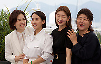 Lee Jung-Eun, Park So-dam, Cho Yeo-jeong and Chang Hyae-Jin at the Parasite film photo call at the 72nd Cannes Film Festival, Wednesday 22nd May 2019, Cannes, France. Photo credit: Doreen Kennedy