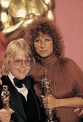 January 1, 1977 - Hollywood, California, U.S. - Barbara Streisand and Paul Williams, Best Song winners, Evergreen, Academy Awards. 1977. Preserved by Neil Diamond  (Credit Image: © Armando Gallo via ZUMA Studio)