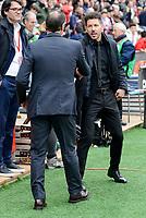 Atletico de Madrid's coach Diego Pablo Simeone and Valencia CF's coach Salvador Gonzalez Marco Voro during La Liga match between Atletico de Madrid and Valencia CF at Vicente Calderon Stadium  in Madrid, Spain. March 05, 2017. (ALTERPHOTOS/BorjaB.Hojas)