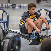 Kit Maguire - U15 Race #4  09:15am<br /> <br /> <br /> www.rowingcelebration.com Competing on Concept 2 ergometers at the 2018 NZ Indoor Rowing Championships. Avanti Drome, Cambridge,  Saturday 24 November 2018 © Copyright photo Steve McArthur / @RowingCelebration