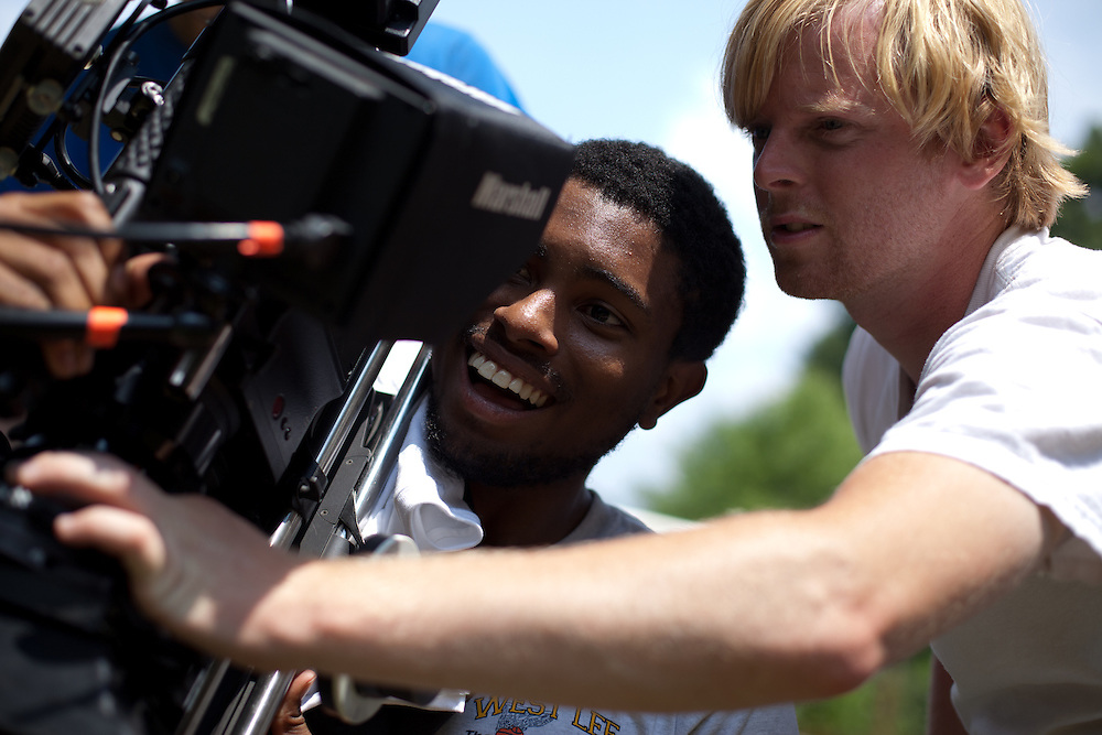 Production stills from William Brooks' short film, A Modest Truth