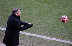 West Ham Manager, Sam Allardyce passes the ball back to one of his players. - Photo mandatory by-line: Alex James/JMP - Mobile: 07966 386802 - 25/01/2015 - SPORT - Football - Bristol - Ashton Gate - Bristol City v West Ham United - FA Cup Fourth Round