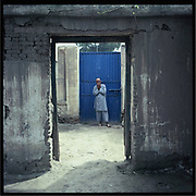 A mental patient in a hospital in Jalalabad.