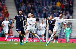 Czech Republic's Patrik Schick scores the second goal of the game during the UEFA Euro 2020 Group D match at Hampden Park, Glasgow. Picture date: Monday June 14, 2021.