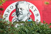 Mural at Broadways Pizza in Asheville, North Carolina.