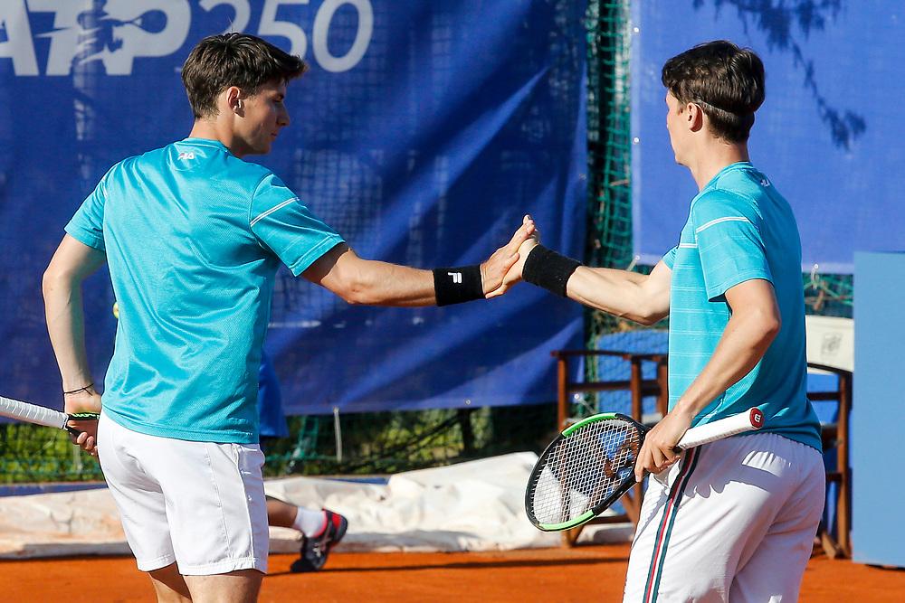 Tennis-ATP Serbia Open Belgrade 2021-<br /> Ivan Sabanov (CRO)-Matej Sabanov (CRO) v Matteo Berrettini (ITA)-Andrea Vavassori (ITA)<br /> Beograd, 23.04.2021.foto: Marko Djokovic/Starsportphoto ©