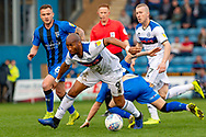Rochdale forward Calvin Andrew (9) during the EFL Sky Bet League 1 match between Gillingham and Rochdale at the MEMS Priestfield Stadium, Gillingham, England on 30 March 2019.