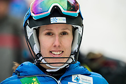 """Klara Livk (SLO) after the 1st Run of FIS Alpine Ski World Cup 2017/18 Ladies' Slalom race named """"Snow Queen Trophy 2018"""", on January 3, 2018 in Course Crveni Spust at Sljeme hill, Zagreb, Croatia. Photo by Vid Ponikvar / Sportida"""
