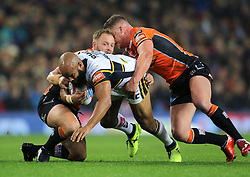 Leeds Rhinos' Jamie Jones Buchanan (centre) during the Betfred Super League Grand Final at Old Trafford, Manchester.