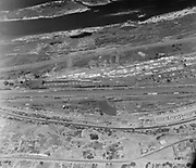 9305-A4520-3. Aerial view of Rail Yards, The Dalles, Oregon