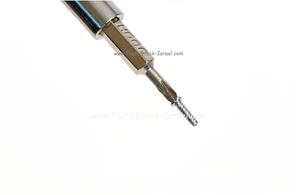 Philips screwdriver On white Background