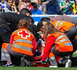 March 9, 2019 - Vitoria, Vitoria, Spain - Red Cross cure to R: Duarte, during the spanish championship,  La Liga BBVA, match played between Deportivo Alaves  and Sociead Deportiva Eibar, at Mendizorroza Stadium, in Vitoria, Spain. 09, March, 2019 (Credit Image: © AFP7 via ZUMA Wire)