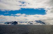Landscape and ice from Hornsund, south-western Spitsbergen, Svalbard, Norway.