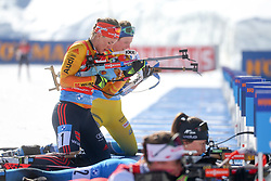 Herrmann Denise of Germany competes during the IBU World Championships Biathlon 4x6km Relay Women competition on February 20, 2021 in Pokljuka, Slovenia. Photo by Vid Ponikvar / Sportida