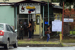 July 30, 2017 - Valencia, Carabobo, Venezuela - The influx of voters by the constituent was minimized in the voting centers of the south of Valencia. That is considered the strong bastion of government, for being popular zone. In Valencia, Carabobo state. Photo: Juan Carlos Hernandez (Credit Image: © Juan Carlos Hernandez via ZUMA Wire)