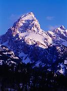 Grand Teton, 13,770 feet tall, Grand Teton National Park, Wyoming.
