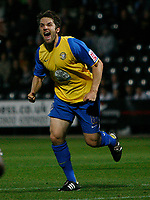 Photo: Steve Bond.<br />Notts County v Hereford United. Coca Cola League 2. 02/10/2007. Ben Smith turns away after scoring the 1st goal