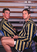 Henley, Great Britain.  Steve REDGRAVE and Matt PINSENT, Leander Club  Boathouse. [Mandatory Credit Peter Spurrier/ Intersport Images]