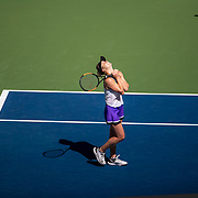 2019 US Open Tennis Tournament- Day Nine.  Elina Svitolina of the Ukraine celebrates her victory against Johanna Konta of Great Britain in the Women's Singles Quarter-Finals match on Arthur Ashe Stadium during the 2019 US Open Tennis Tournament at the USTA Billie Jean King National Tennis Center on September 3rd, 2019 in Flushing, Queens, New York City.  (Photo by Tim Clayton/Corbis via Getty Images)