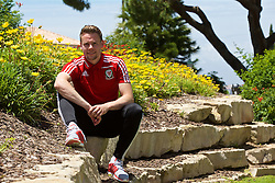 VALE DO LOBO, PORTUGAL - Wednesday, May 25, 2016: Wales' Chris Gunter during day two of the pre-UEFA Euro 2016 training camp at the Vale Do Lobo resort in Portugal. (Pic by David Rawcliffe/Propaganda)