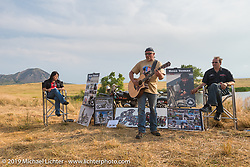 Ross Thomas memorial at the Broken Spoke County Line during the Sturgis Black Hills Motorcycle Rally. SD, USA. August 4, 2014.  Photography ©2014 Michael Lichter.