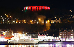 Oban's iconic McCaig's Tower illuminated in red for Remembrance Day....... (c) Stephen Lawson | Edinburgh Elite media