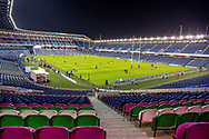 General view inside BT Murrayfield Stadium, Edinburgh, Scotland before the Guinness Pro 14 2018_19 match between Edinburgh Rugby and Dragons Rugby on 15 February 2019.