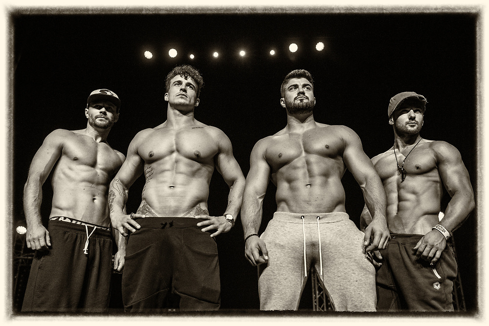Dream boys at The Kings Theatre, Glasgow. L to R : Litho, Lotan, Rogan and Luca. <br />  Picture Robert Perry for The Herald and  Evening Times 15th July 2016