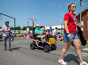 The Fellowship of Christian Farmers participate in an Independence Day parade in Millville, Pennsylvania on July 5, 2021.