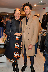 CHARLIE CASELY-HAYFORD and ALICE CASELY-HAYFORD at a party to celebrate 'Kitmas' at Kit & Ace at 80-82 Regent Street, London on 9th December 2015.