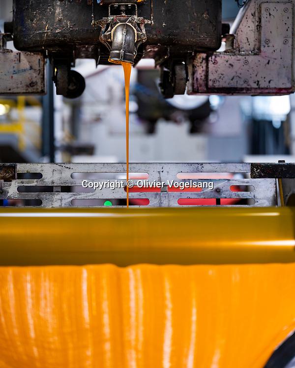 Chavornay, 28 août 2019. Visite de l'usine Sicpa à Chavornay.  L'entreprise spécialisée dans les solutions sécurité/authentification fabrique notamment les encres des billets de banque helvétiques. © Olivier Vogelsang
