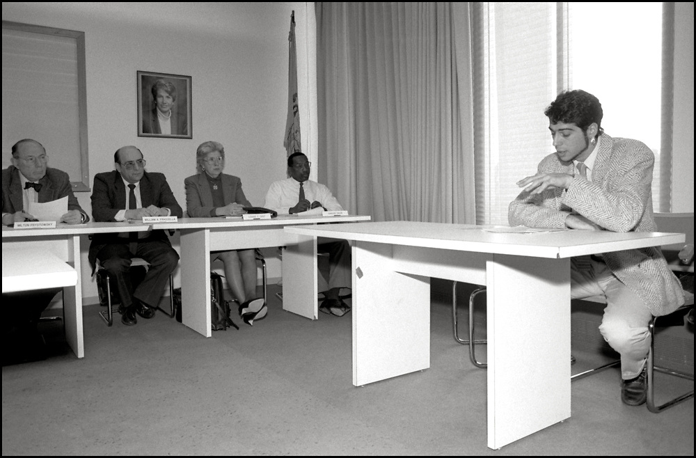 On January 22, 1990, David Robinson of ACT UP NY testified at a hearing in Trenton, NJ regarding the State's proposal to link HIV testing to people's names, in order to more accurately count new cases.  ACTUP argued for anonymous testing and recommended unique identifiers instead.