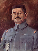 General Charles Mangin (1866-1925) French army officer who had command in the First World War.  At the end of thear he was appointed to the Supreme War Council. Mangin in 1918.