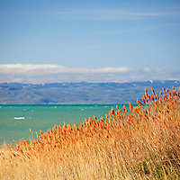 USA, Idaho, Bear Lake. View of Bear lake with turquoise waters.