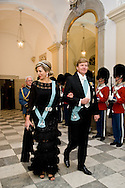 15.04.2015. Copenhagen, Denmark.Queen Maxima and King Willem-Alexander of The Netherlandsattended a Gala Dinner at Christiansborg Palace on the eve of The 75th Birthday of Queen Margrethe of Denmark.Photo:© Ricardo Ramirez
