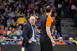 March 2, 2018 - Madrid, Madrid, Spain - Pablo Laso (L) during Fenerbahce Dogus Istanbul victory over Real Madrid (83 - 86) in Turkish Airlines Euroleague regular season game (round 24) celebrated at Wizink Center in Madrid (Spain). March 2nd 2018. (Credit Image: © Juan Carlos Garcia Mate/Pacific Press via ZUMA Wire)