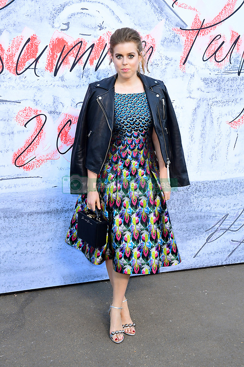 Princess Beatrice of York attending the Serpentine Summer Party 2018 held at the Serpentine Galleries Pavilion, Kensington Gardens, London.