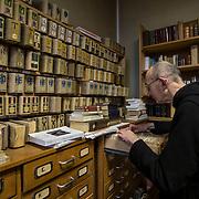 The librarie's office at the abbey of Solesmes. 08-01-16<br /> The bureau du père bibliothécaire à l'abbaye de Solesmes. 08-01-16