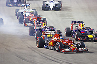 HAMILTON Lewis (Gbr) Mercedes Gp Mgp W05 action VETTEL Sebastian (Ger) Red Bull Renault Rb10 action ALONSO Fernando (Spa<br />  Formula One World Championship, Singapore Grand Prix from September 19th to 21th 2014 in Singapour.<br /> F1<br /> <br /> Norway only