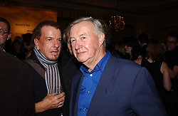 Left to right, NICKY HASLAM and SIR TERENCE CONRAN at the Harpers & Queen and Moet & Chandon Restaurant Awards for 2004 held at Claridges, Brook Street, London on 1st November 2004.<br />