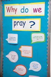 Wall display in school classroom,