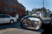 Old order Mennonite family Sunday