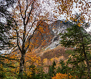 """Byobuiwa rocks in Yokoo Valley, Hida Mountains, Chubu-Sangaku National Park, in the """"Northern Alps"""" of the Japanese Alps, near Kamikochi, Nagano Prefecture, Japan. This image was stitched from multiple overlapping photos."""