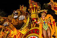 Floats in the Carnaval parade of Academicos do Salgueiro samba school in the Sambadrome, Rio de Janeiro, Brazil.