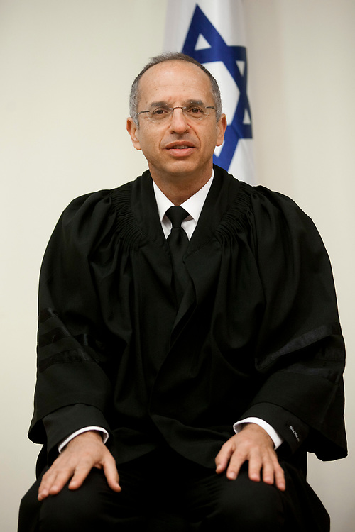 A portrait of Israeli Supreme Court justice Noam Solberg during a swearing-in ceremony of new judges at the President's Residence in Jerusalem, Israel, on February 21, 2012.