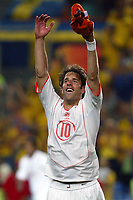 Faro 27/6/2004 Euro2004 <br />Svezia - Olanda 4-5 after penalties (0-0) <br />Ruud Van Nistelrooy of Netherlands celebrate the victory at the end of the match<br />Photo Andrea Staccioli Graffiti