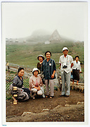 mountain side foggy travel trip vacation Japan early 1980s