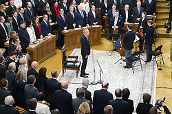 26.01.2017, Historischer Sitzungssaal, Wien, AUT, Parlament, 18. Bundesversammlung zur Angelobung des neuen Bundespräsidenten Van der Bellen, im Bild Bundespräsident Alexander Van der Bellen // federal president of Austria Alexander Van der Bellen during inauguration ceremony for the new federal president of austria at austrian parliament in Vienna, Austria on 2017/01/26, EXPA Pictures © 2017, PhotoCredit: EXPA/ Michael Gruber